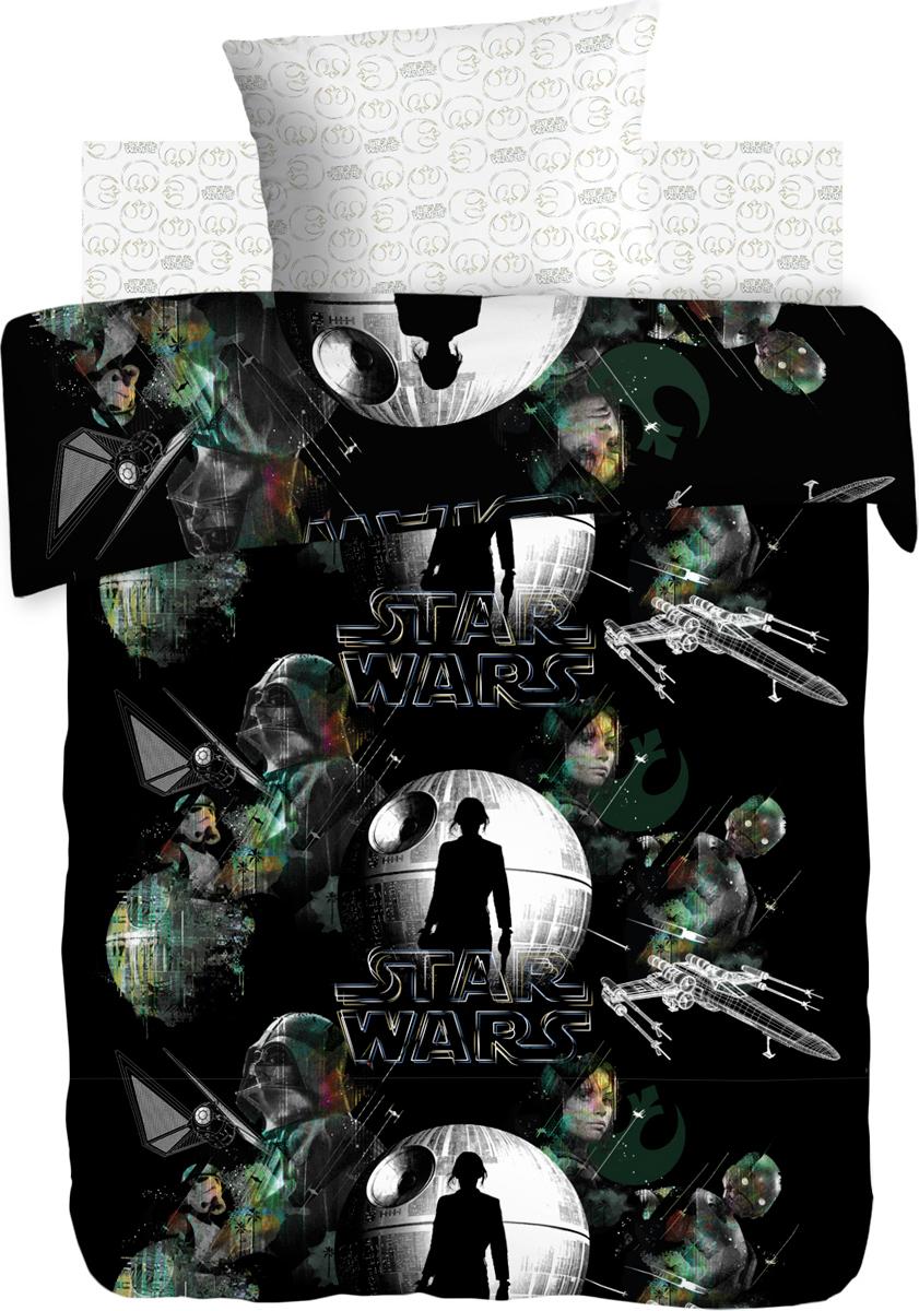 Комплект белья Star Wars Сопротивление , 1,5-спальный, наволочки 70x70, цвет: черный390847
