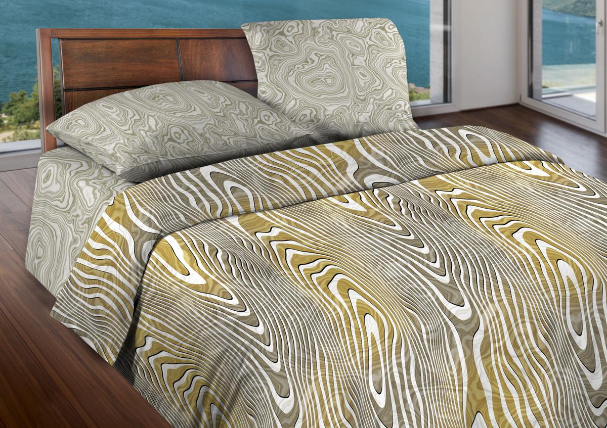Комплект белья Wenge Agate, 1,5-спальный, наволочки 70x70, цвет: серый408989