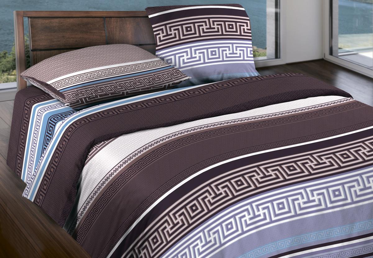 Комплект белья Wenge Ageon, 1,5-спальный, наволочки 70x70, цвет: коричневый