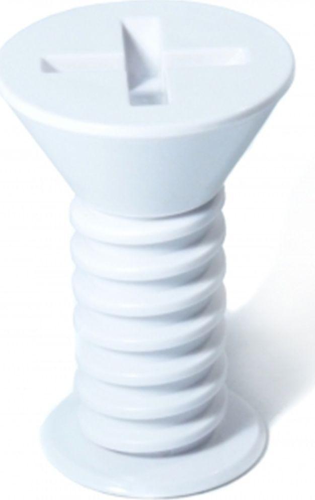 Вешалка настенная Карамба Саморез, цвет: белый, 9 x 7 x 7 см3161