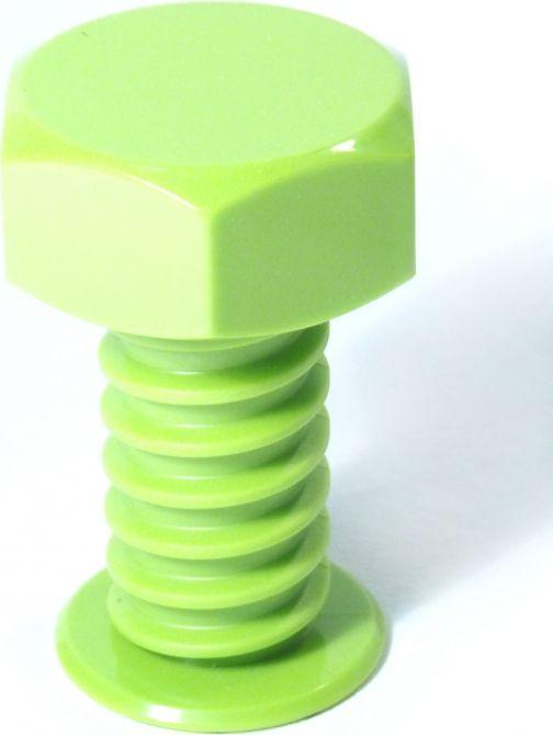 Вешалка настенная Карамба Болт, цвет: зеленый, 9 x 7 x 7 см3166