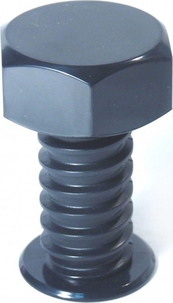 Вешалка настенная Карамба Болт, цвет: черный, 9 x 7 x 7 см