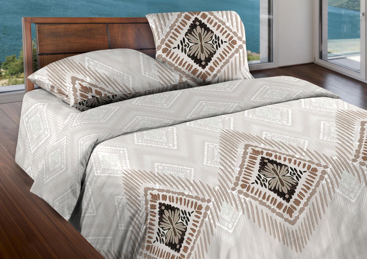 Комплект белья Wenge Cowboy, 2-спальный, наволочки 70x70, цвет: бежевый409470