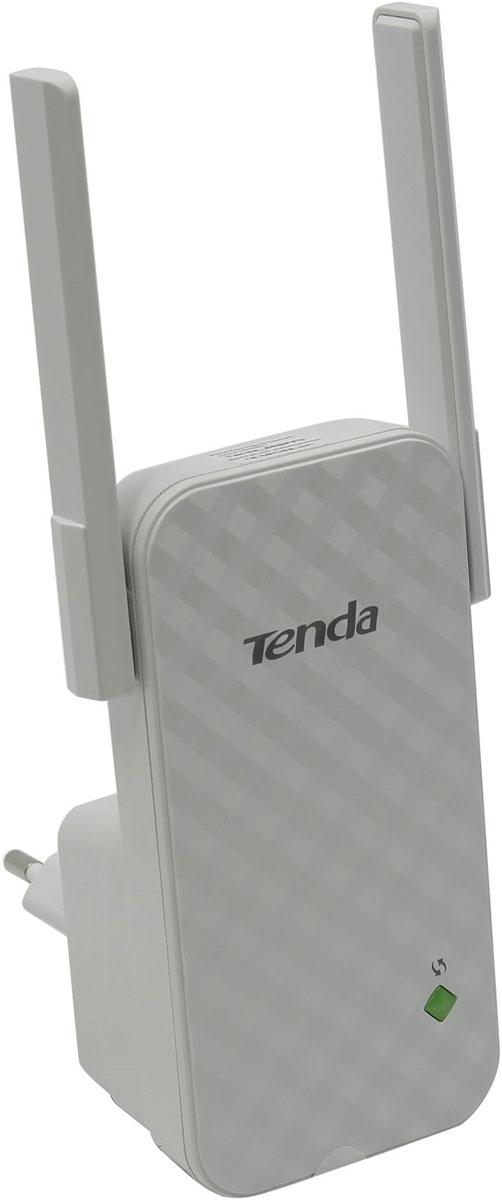 Tenda A9 усилитель беспроводного сигнала508921Tenda A9 представляет собой беспроводной универсальный расширитель диапазона, специально разработанный для расширения охвата WiFi и улучшения уровня сигнала. Это идеальный выбор для устранения мертвых зон Wi-Fi и оптимизации вашей сети. Модель выглядит изящно за счет белого цвета, компактного размера и глянцевой лицевой панели. По бокам разместились две коротких несъемных антенны.Поддержка WPSВыходная мощность: 16 dBm