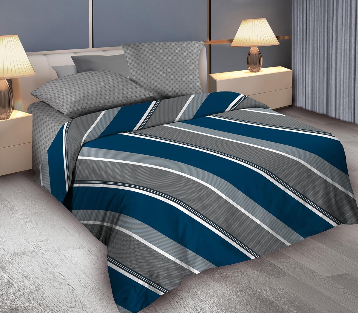 Комплект белья Wenge Gentle, евро, наволочки 70x70, цвет: серый364989