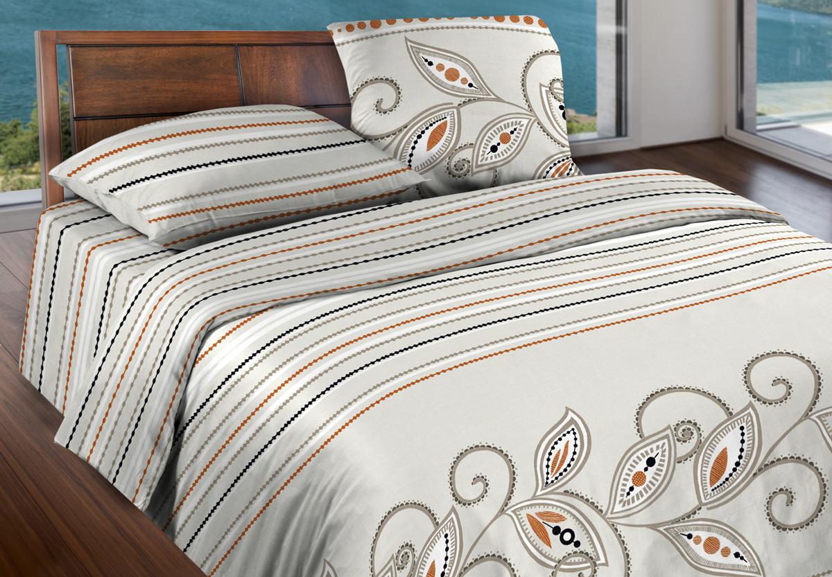 Комплект белья Wenge Inario, 1,5-спальный, наволочки 70x70, цвет: бежевый427816