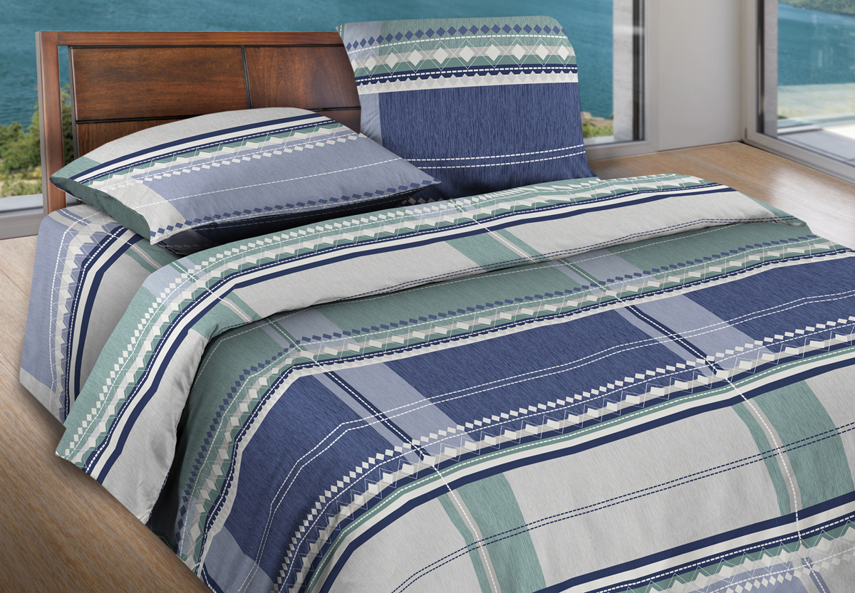 Комплект белья Wenge Kempten, евро, наволочки 70x70, цвет: серый427833