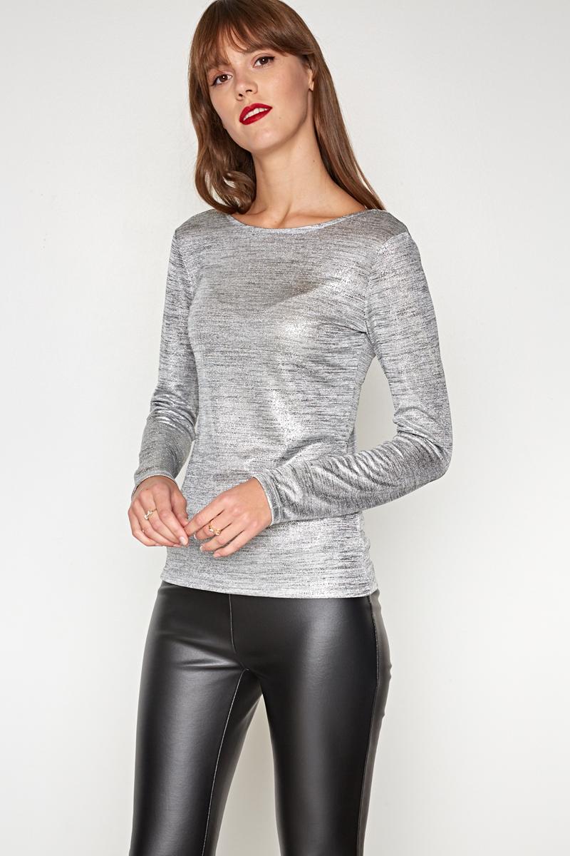 Джемпер женский Concept Club Luck, цвет: серебристый. 10200100168. Размер XS (42)10200100168_3700Джемпер жен. Luck золотой