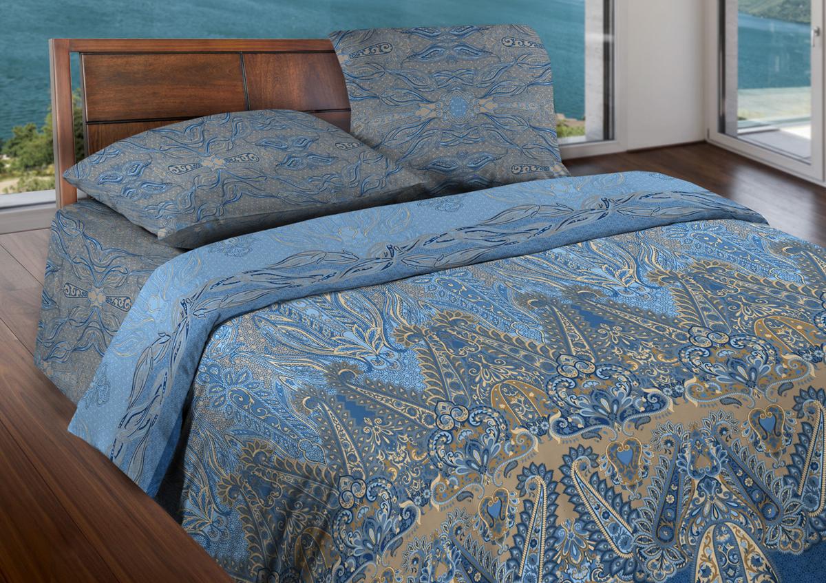 Комплект белья Wenge Ornament, евро, наволочки 70x70, цвет: синий