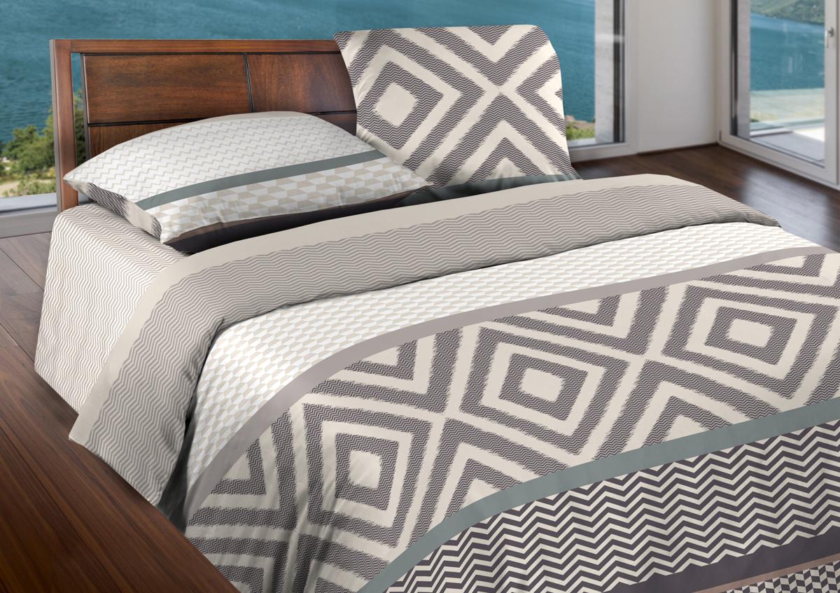 Комплект белья Wenge Stetson, евро, наволочки 70x70, цвет: серый