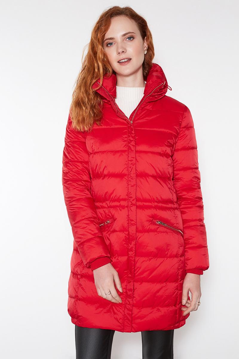 Пальто женское Concept Club Tolli, цвет: красный. 10200610037. Размер M (46) платье женское concept club basy цвет черный 10200200341 размер m 46