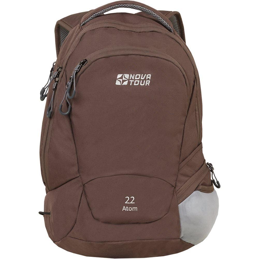 Рюкзак городской Nova Tour Атом 22, цвет: темно-коричневый, 22 л