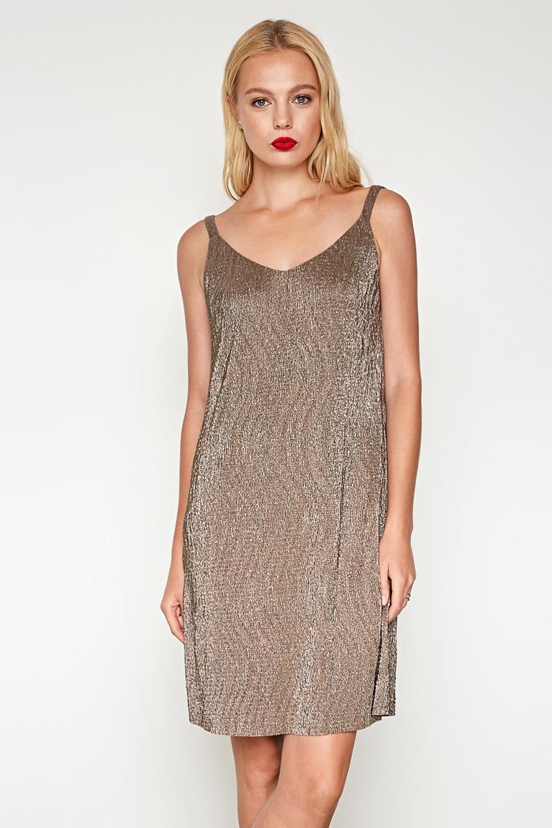 Платье женское Concept Club Mirra, цвет: золотой. 10200200394. Размер S (44)10200200394_3600Платье жен. Mirra золотой