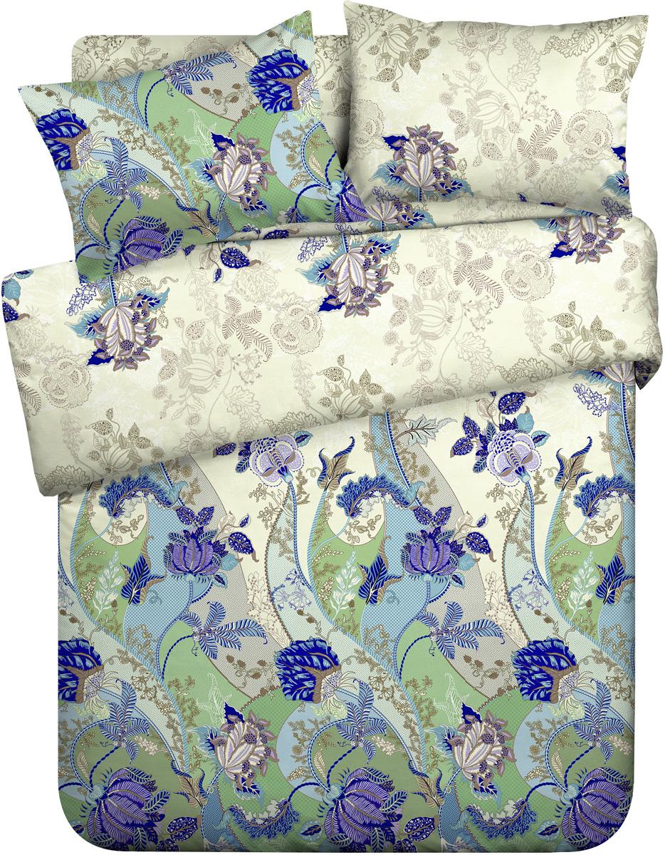 Комплект белья Любимый дом Грация, 1,5-спальный, наволочки 70x70, цвет: бежевый комплект белья любимый дом павлины 1 5 спальный наволочки 70x70 цвет зеленый