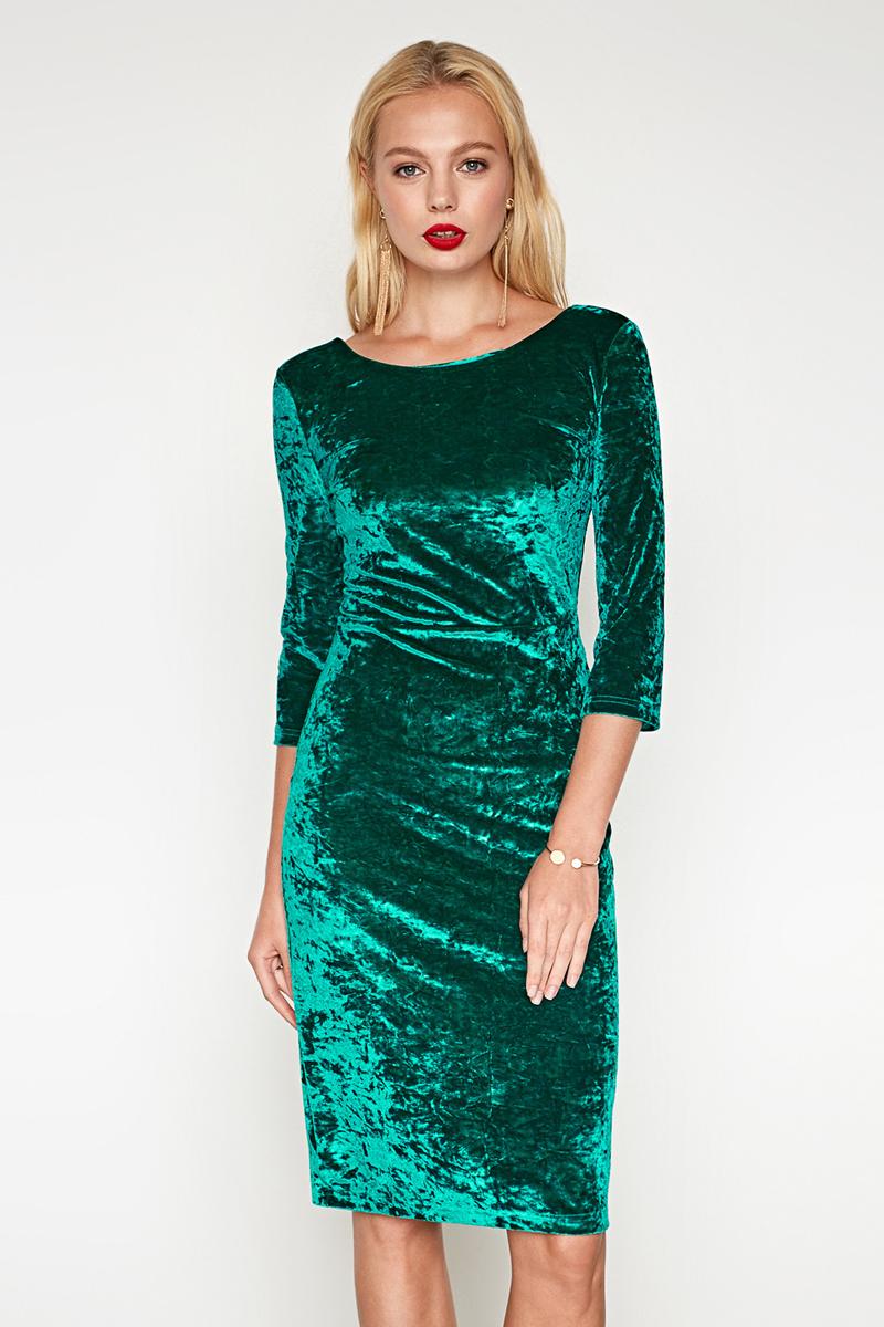 Платье женское Concept Club Orioni, цвет: зеленый. 10200200395. Размер XL (50)10200200395_2300Платье жен. Orioni зеленый
