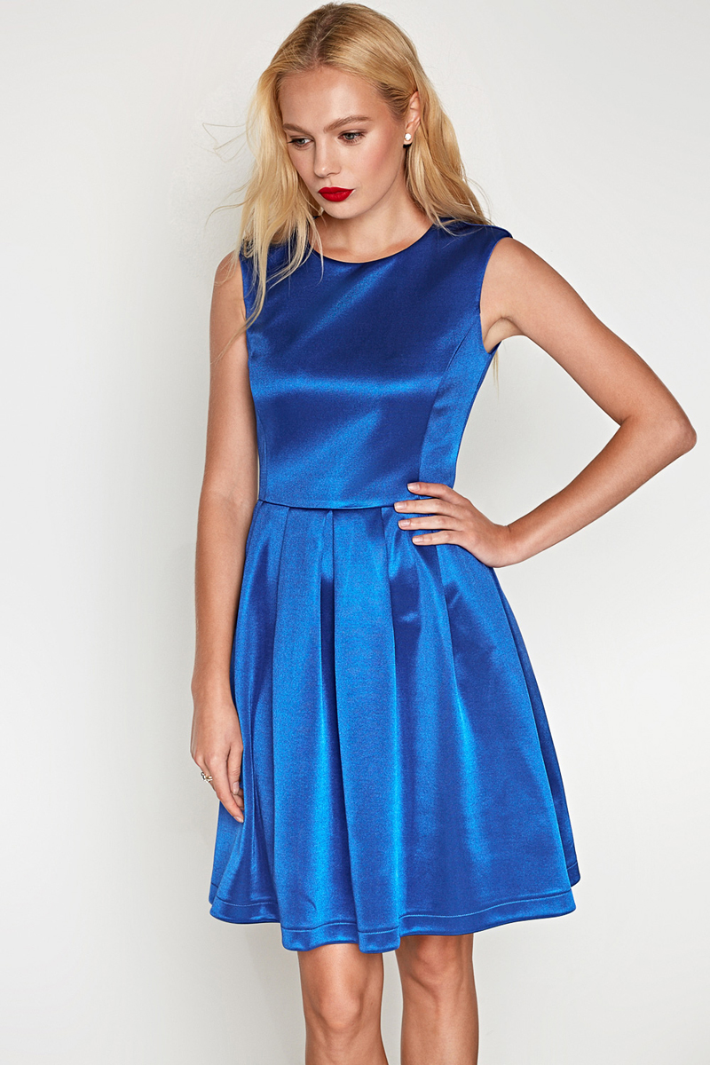 Платье Concept Club Talisman, цвет: синий. 10200200396. Размер S (44)10200200396_500Платье Concept Club выполнено из полиэстера и эластана. Модель с круглым вырезом горловины сзади застегивается на застежку-молнию.