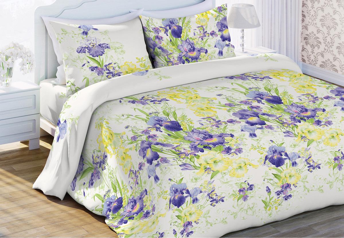 Комплект белья Любимый дом Очарование, 1,5-спальный, наволочки 70x70, цвет: белый453533