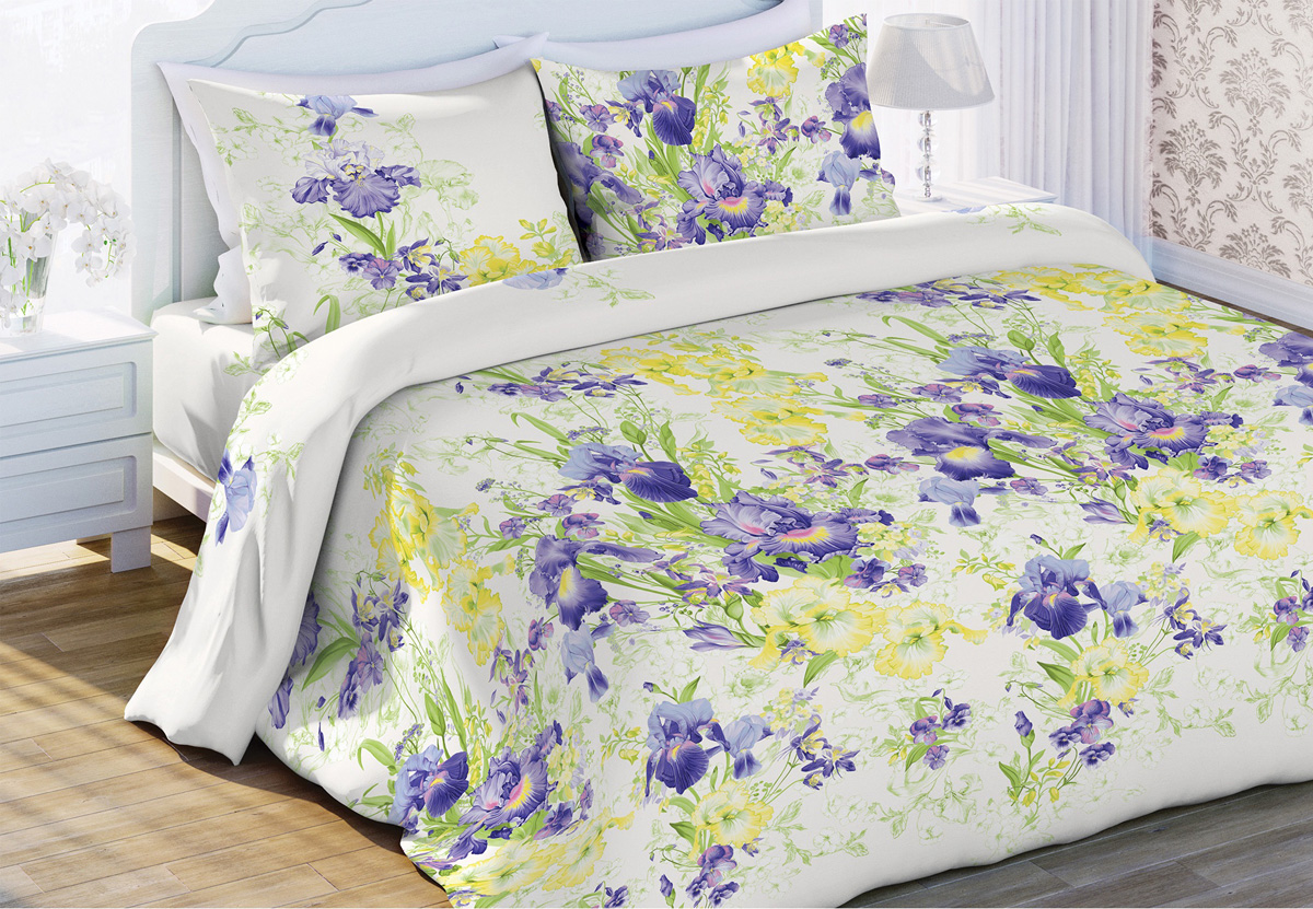 Комплект белья Любимый дом Очарование, евро, наволочки 70x70, цвет: белый453551
