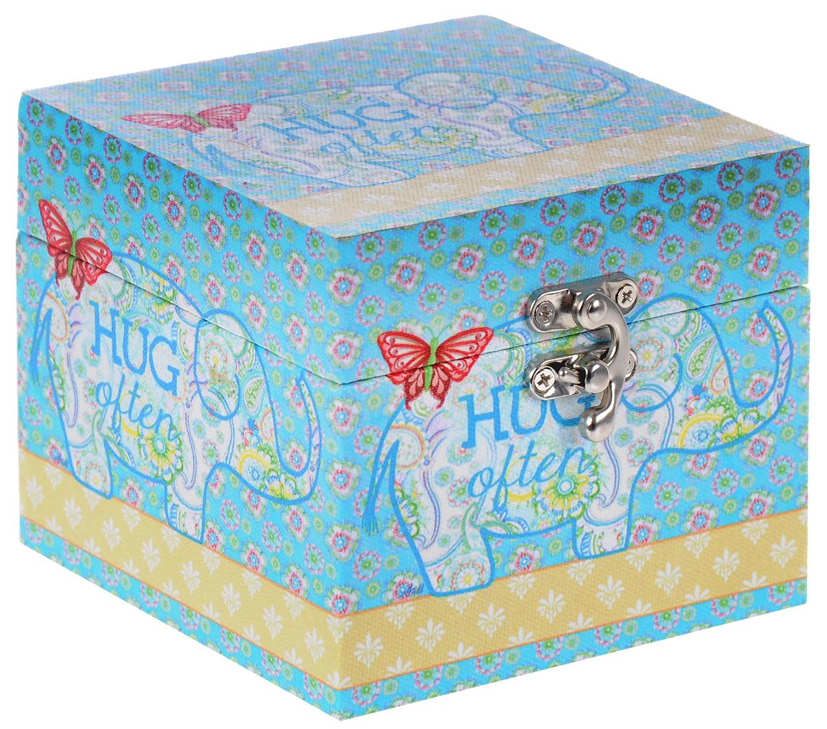 Шкатулка для рукоделия Sanmu, 12 х 12 х 10 см. TL5972 шкатулки trousselier музыкальная шкатулка 1 отделение fairy parma