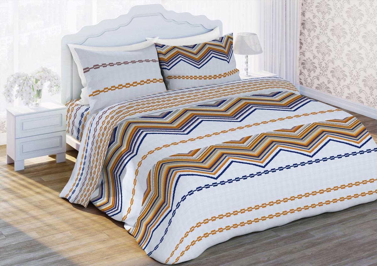 Комплект белья Любимый дом Элегант, 2-спальный, наволочки 70x70, цвет: бежевый422327