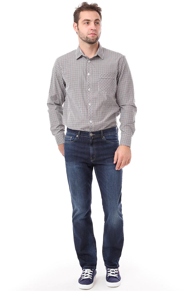 Рубашка мужская F5 Poplin, цвет: коричневый. 276003. Размер M (48)276003_Check 9