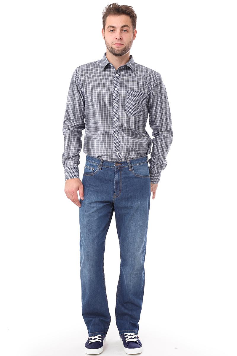 Рубашка мужская F5 Poplin, цвет: синий. 276008. Размер 3XL (56)276008_Check 4Мужская рубашка F5, выполненная из хлопка и полиэстера, прекрасно подойдет для повседневной носки. Материал очень мягкий и приятный на ощупь, не сковывает движения и позволяет коже дышать. Рубашка прямого кроя с отложным воротником и длинными рукавами застегивается на пуговицы по всей длине. На груди модели предусмотрен накладной карман. Манжеты рукавов также застегиваются на пуговицы. Изделие оформлено принтом в клетку. Такая модель будет дарить вам комфорт в течение всего дня и станет модным и стильным дополнением к вашему гардеробу.