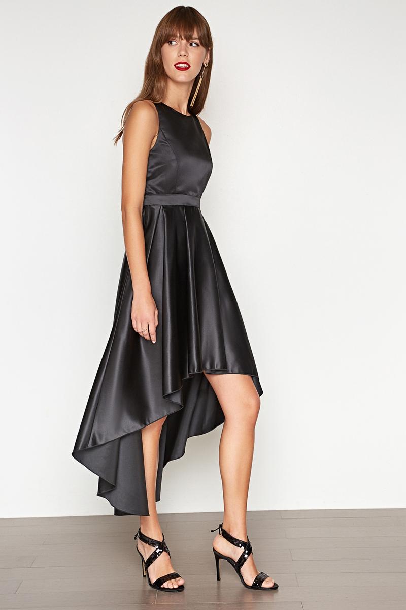 Платье Concept Club Win, цвет: черный. 10200200398. Размер L (48)10200200398_100Платье Concept Club выполнено из полиэстера. Модель с круглым вырезом горловины сзади застегивается на застежку-молнию.
