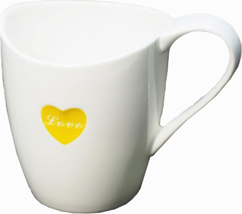 Кружка Карамба Лодочка, цвет: белый, желтый, 250 мл3740