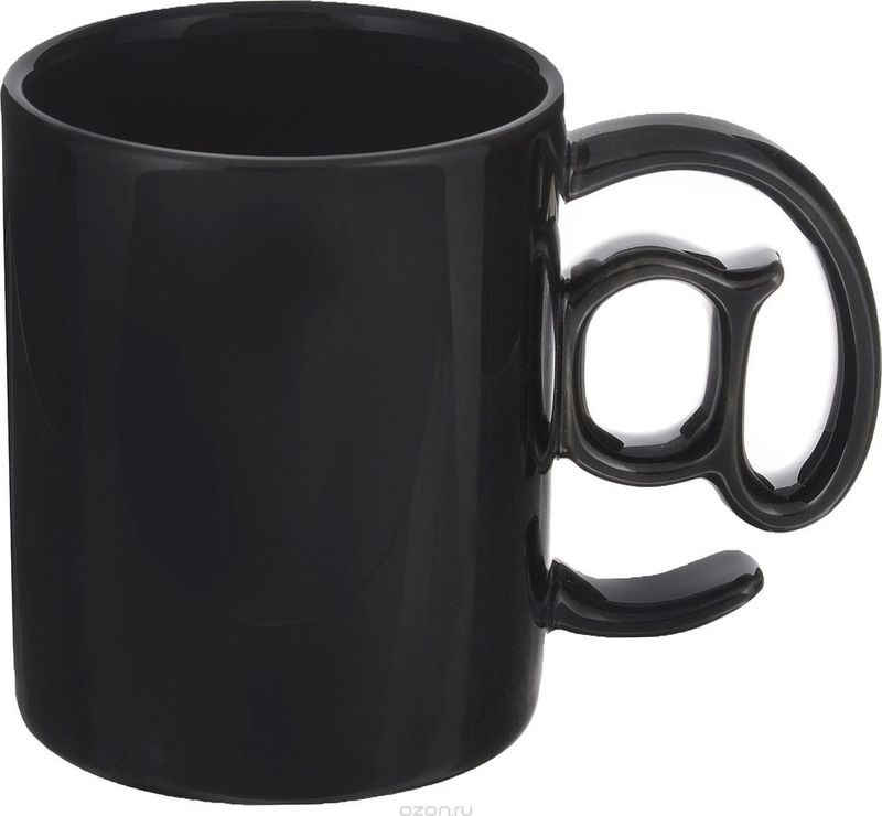 Кружка Карамба Собачка, цвет: черный, 270 мл3777