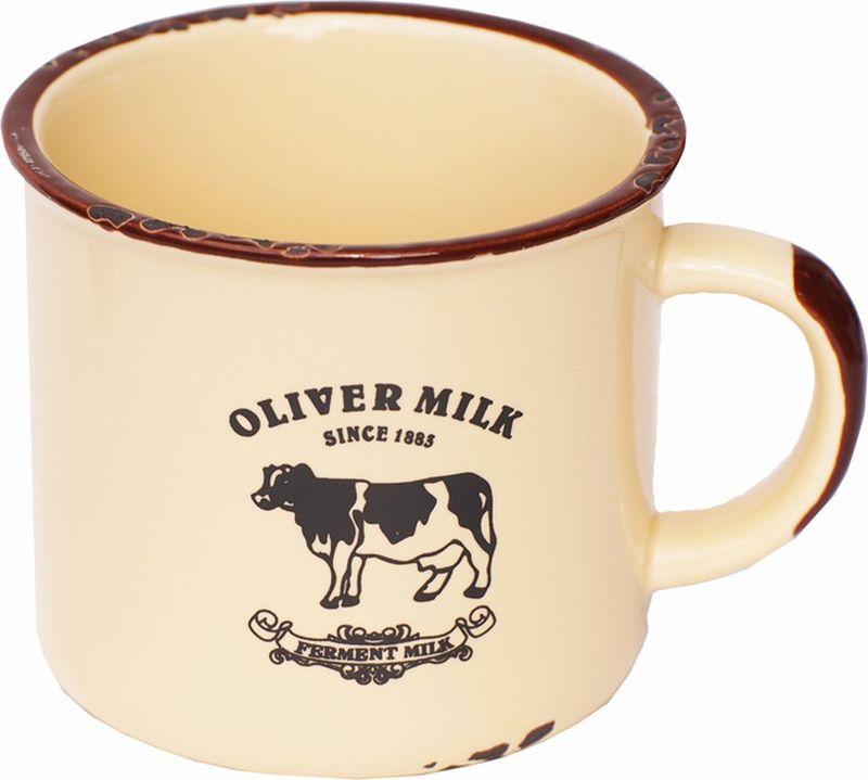 Кружка Карамба Корова, со сколами, цвет: желтый, 230 мл3779Оригинальная кружка Корова из керамики, выполненная в стиле ретро, станет отличным подарком для человека, ценящего забавные и практичные подарки.