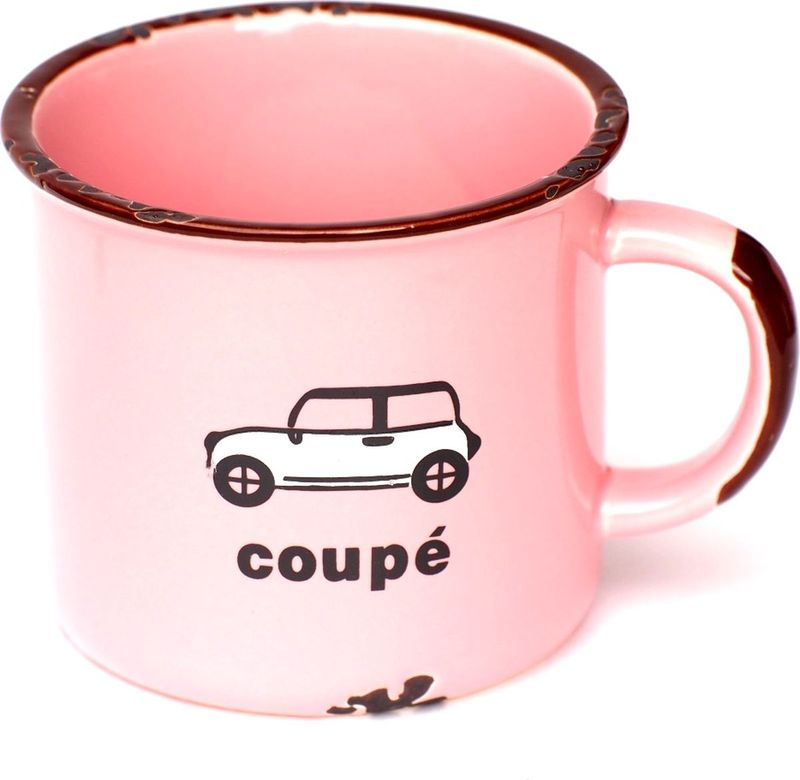 Кружка Карамба Транспорт, со сколами, цвет: розовый, 230 мл3839Кружка, выполненная в стиле ретро.