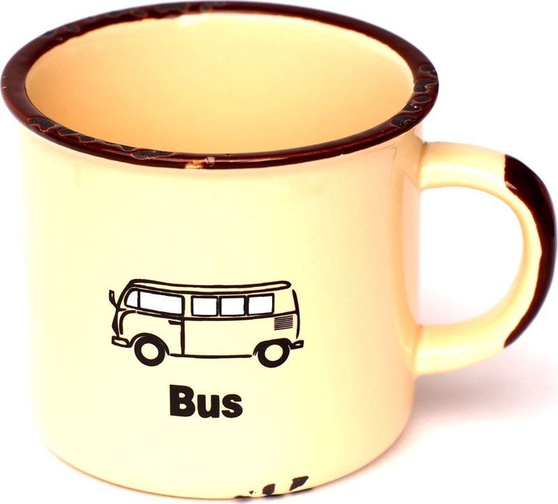 Кружка Карамба Транспорт, со сколами, цвет: желтый, 230 мл3841Кружка, выполненная в стиле ретро.