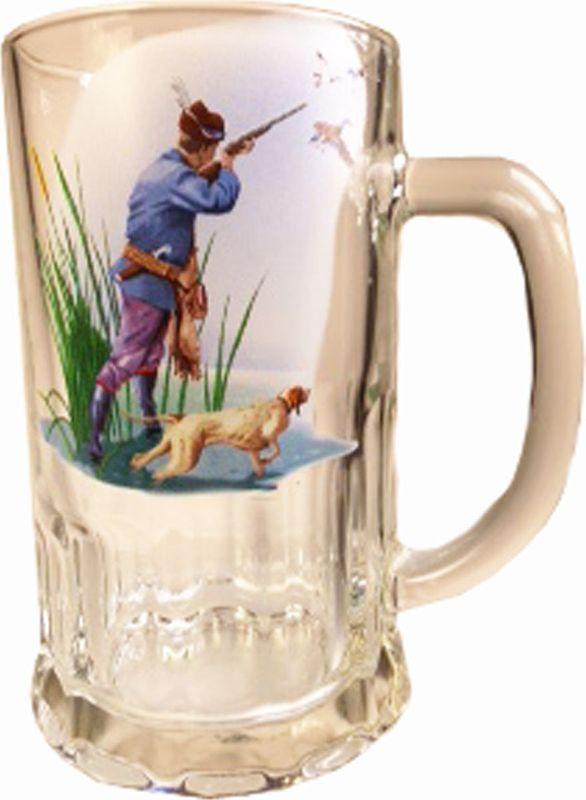 Кружка пивная Карамба Охота. Охотник, 500 мл3923Большая пивная кружка изготовлена из стекла и оформлена рисунком. Она непременно понравится любителям пенного напитка, веселых посиделок и отвязных вечеринок. Пивная кружка превратит заурядную встречу в незабываемый вечер, а также станет оригинальным сувениром.