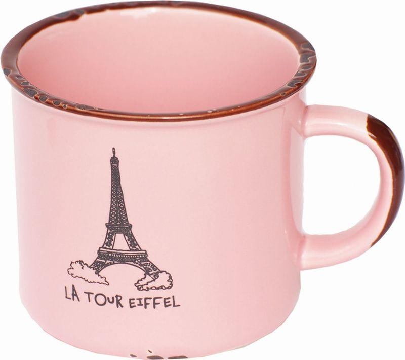 Кружка Карамба Эйфелева башня, со сколами, цвет: розовый, 230 мл4196Оригинальная кружка Эйфелева башня из керамики, выполненная в стиле ретро, станет отличным подарком для человека, ценящего забавные и практичные подарки.