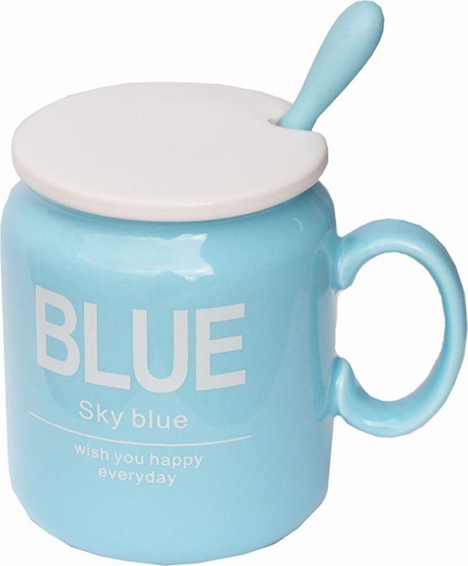 Кружка Карамба Blue, с крышкой, 320 мл4213Стильная кружка Карамба Blue выполнена из керамики. Оснащенная удобной керамической крышкой и ложкой. Такая кружка станет не только приятным, но и практичным сувениром.