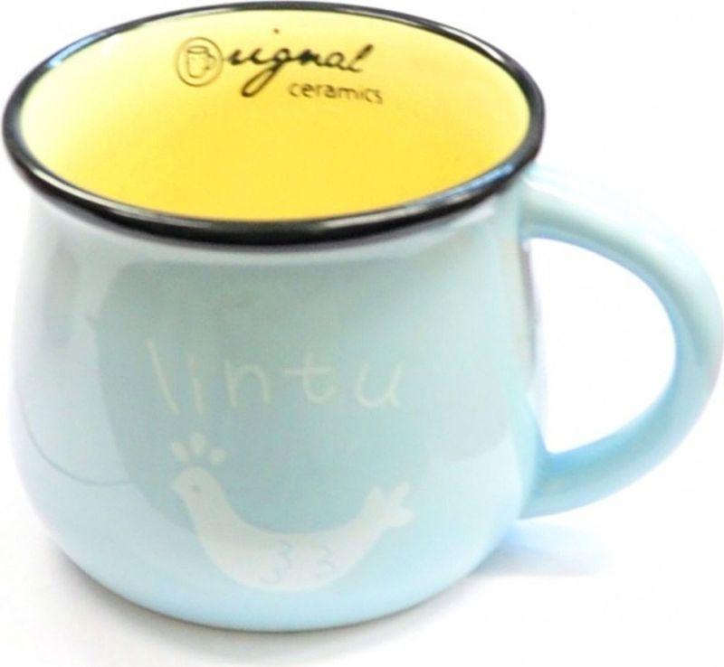 Кружка Карамба Горшок, цвет: голубой, 400 мл4792Стильная кружка, выполненная в виде горшка