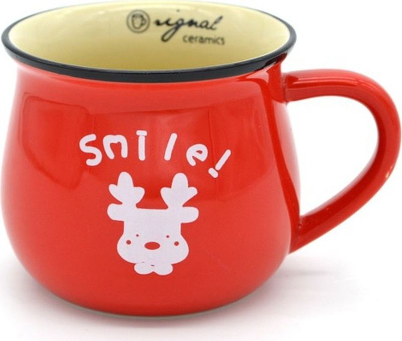 Кружка Карамба Горшок, цвет: красный, 400 мл4796Стильная кружка Карамба Горшок изготовлена из керамики и имеет необычную форму. Кружка Горшок станет не только приятным, но ипрактичным сувениром.