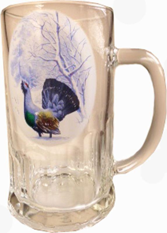 Кружка пивная Карамба Охота. Глухарь, 500 мл4829Большая пивная кружка изготовлена из стекла и оформлена рисунком. Она непременно понравится любителям пенного напитка, веселых посиделок и отвязных вечеринок. Пивная кружка превратит заурядную встречу в незабываемый вечер, а также станет оригинальным сувениром.