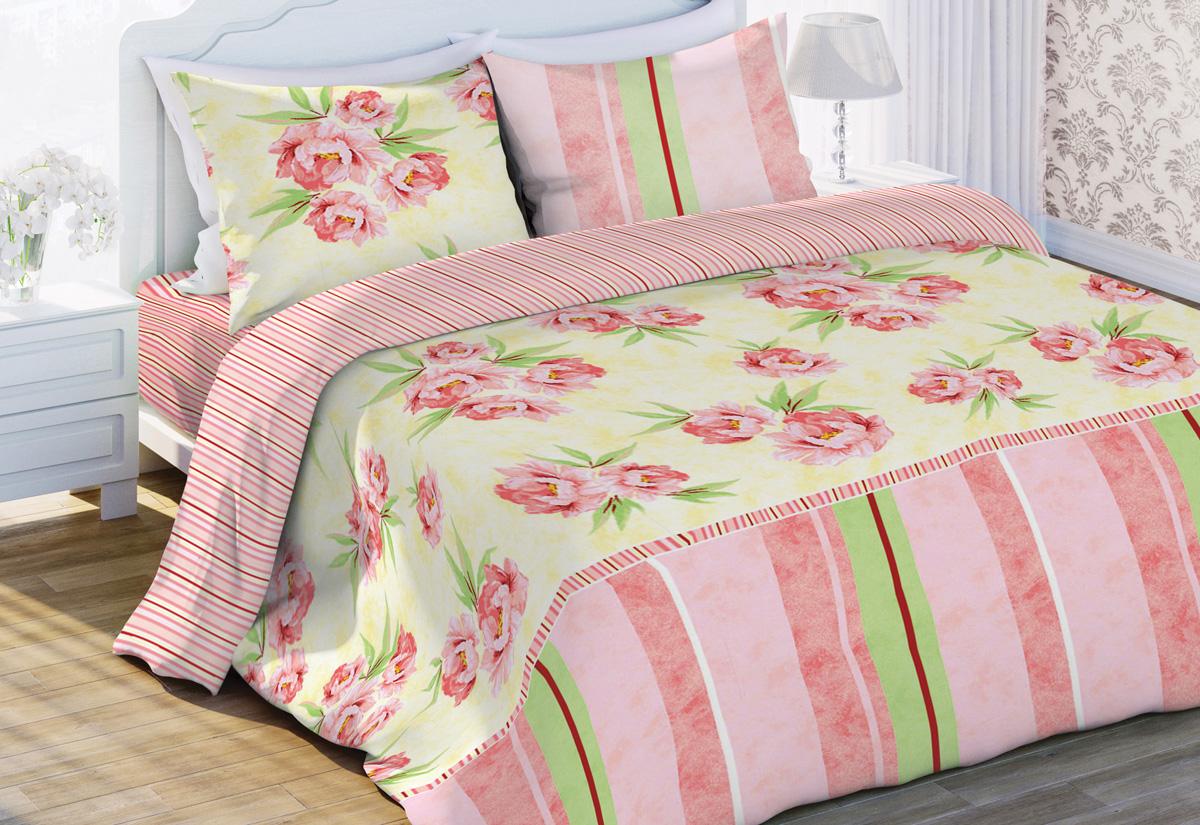 Комплект белья Флоранс Аида, евро, наволочки 70x70, цвет: розовый449638