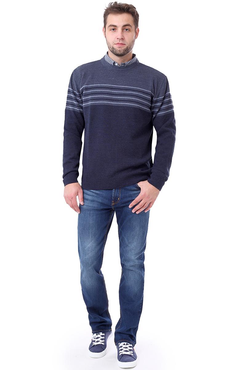 Свитер мужской F5, цвет: синий. 276121. Размер M (48)276121_dark grey navy