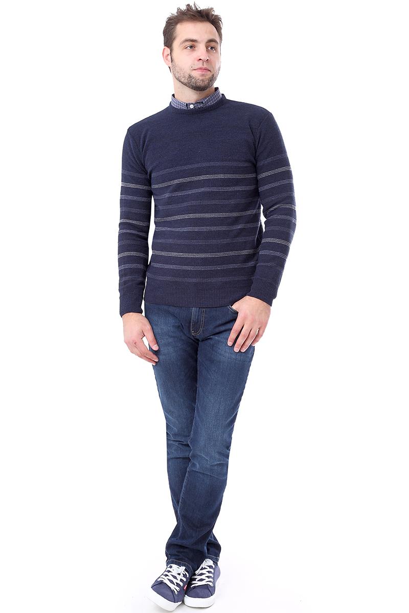 Свитер мужской F5, цвет: синий. 276123. Размер XL (52)276123_navy
