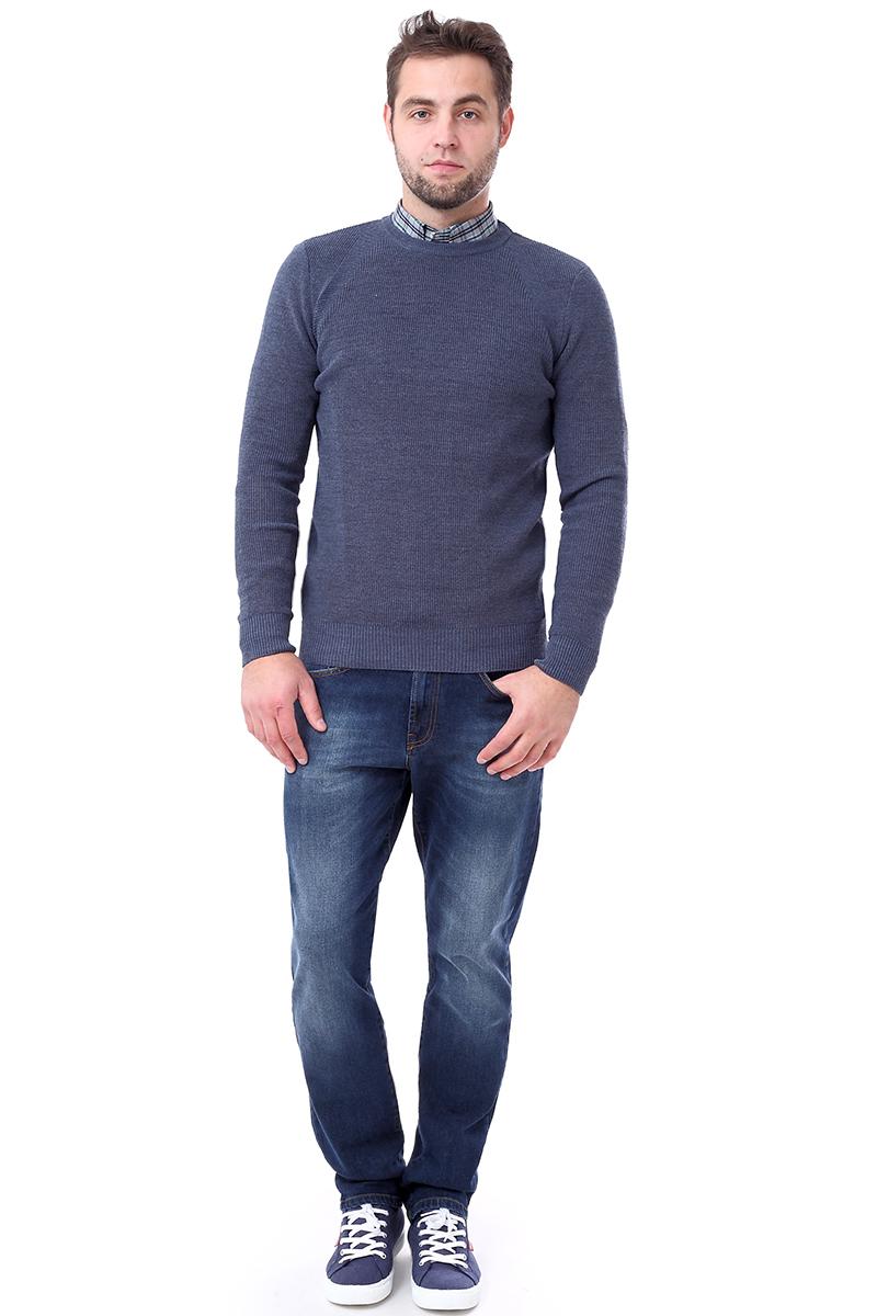 Свитер мужской F5, цвет: синий. 276125. Размер M (48)276125_indigo