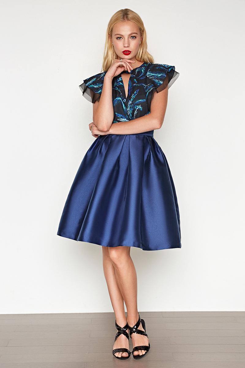 Юбка Concept Club Vanya, цвет: синий. 10200180223. Размер L (48) юбка concept club vanya цвет черный 10200180223 100 размер m 46
