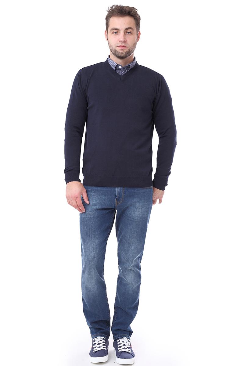 Свитер мужской F5, цвет: синий. 276130. Размер L (50)276130_navy