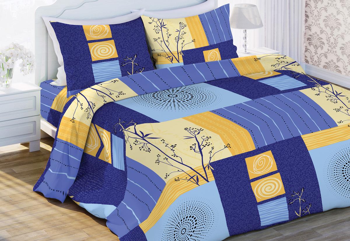 Комплект белья Флоранс Мечты, 2-спальный, наволочки 70x70, цвет: синий431902