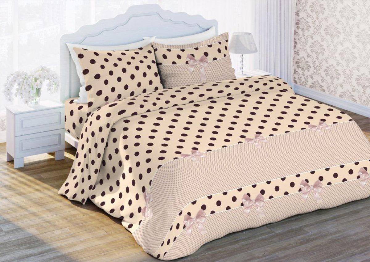 Комплект белья Флоранс Ретро, 2-спальный, наволочки 70x70, цвет: бежевый372833