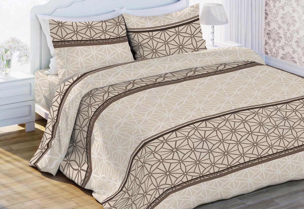Комплект белья Флоранс Торин, 2-спальный, наволочки 70x70, цвет: бежевый449647