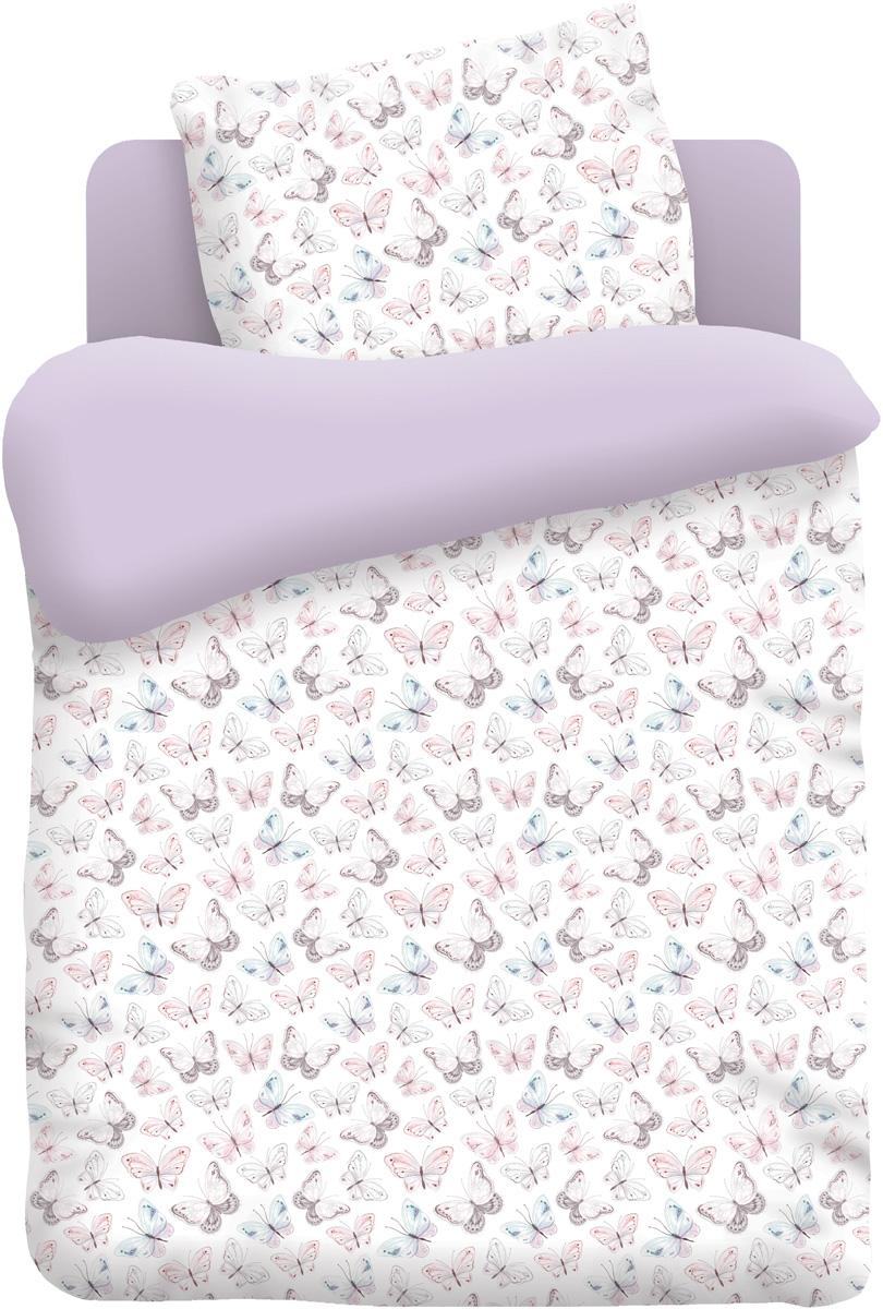 Непоседа Комплект белья в кроватку Бабочки цвет белый 3 предмета442171