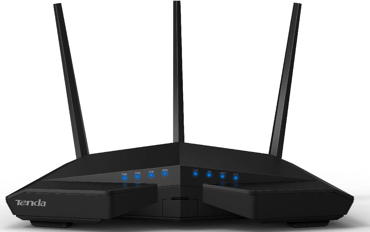 Tenda AC18 беспроводной маршрутизатор463464РоутерTenda AC18 представляет следующее поколение стандарта Wi-Fi: 802.11 ас. Располагая возможностью одновременной передачи в двух диапазонах, АС18 обеспечивает в шесть раз большую пропускную способность, чем роутер стандарта 802-11n.Tenda Full Gigabit проводные подключениядля сверхбыстрой передачи данных Скорость передачи данных через гигабитные WAN и LAN порты AC18 может быть в 10 раз быстрее, чем у обычных маршрутизаторов, подключенных по Fast Ethernet. Tenda AC18 является центром мощной, высокоскоростной локальной сети.Три внешние двухдиапазонные антенны и технология Beamforming+ помогают передавать высокоскоростные сигналы на большие расстояния. Вместе они обеспечивают невероятно широкую зону покрытия и надежность Вашей Wi-Fi сети в большом доме или офисе. Beamforming+ усиливает Wi–Fi слабый сигнал. Это намного упрощает выбор места расположения роутера.Чип центрального процессора – основа всего устройства. Роутер AC18 построен на самом продвинутом двухъядерном процессоре, чтобы гарантировать безупречную совместимость и стабильность. Это позволяет добиться высокой производительности и обеспечивает качественную связь.Наличие в AC18 порта USB3.0 дает возможность удалённого доступа к внешнему жёсткому диску. Вы можете скачивать и делиться мультимедийными и другими файлами где и когда Вам будет угодно. Скорость передачи данных через USB 3.0 порт до десяти раз выше, чем через USB 2.0, поэтому он идеально подходит для совместного использования файлов и мультимедиа, а встроенный принт-сервер упрощает печать файлов.Выключаете роутер на ночь? Беспокоитесь, что не выключили его? Планировщик задач в AC18 избавит вас от подобных забот. Укажите временной промежуток, и AC18 сам отключит и включит передатчики. Это снизит потребление электроэнергии и позволит рациональнее использовать Интернет вам и вашей семье.Простой интерфейс настройки роутера AC18 поможет вам получить доступ в Интернет за 30 секунд, независимо от вашего опыта. Нас