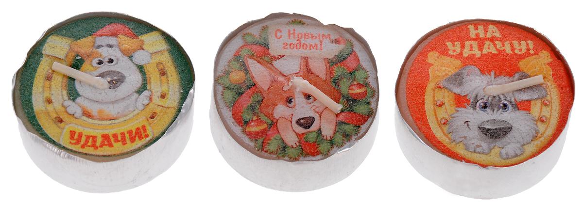 Набор декоративных свечей Sima-land Двойной удачи, диаметр 3,7 см, 3 шт кармашки на стену sima land приятные мелочи цвет салатовый розовый бордовый 5 шт